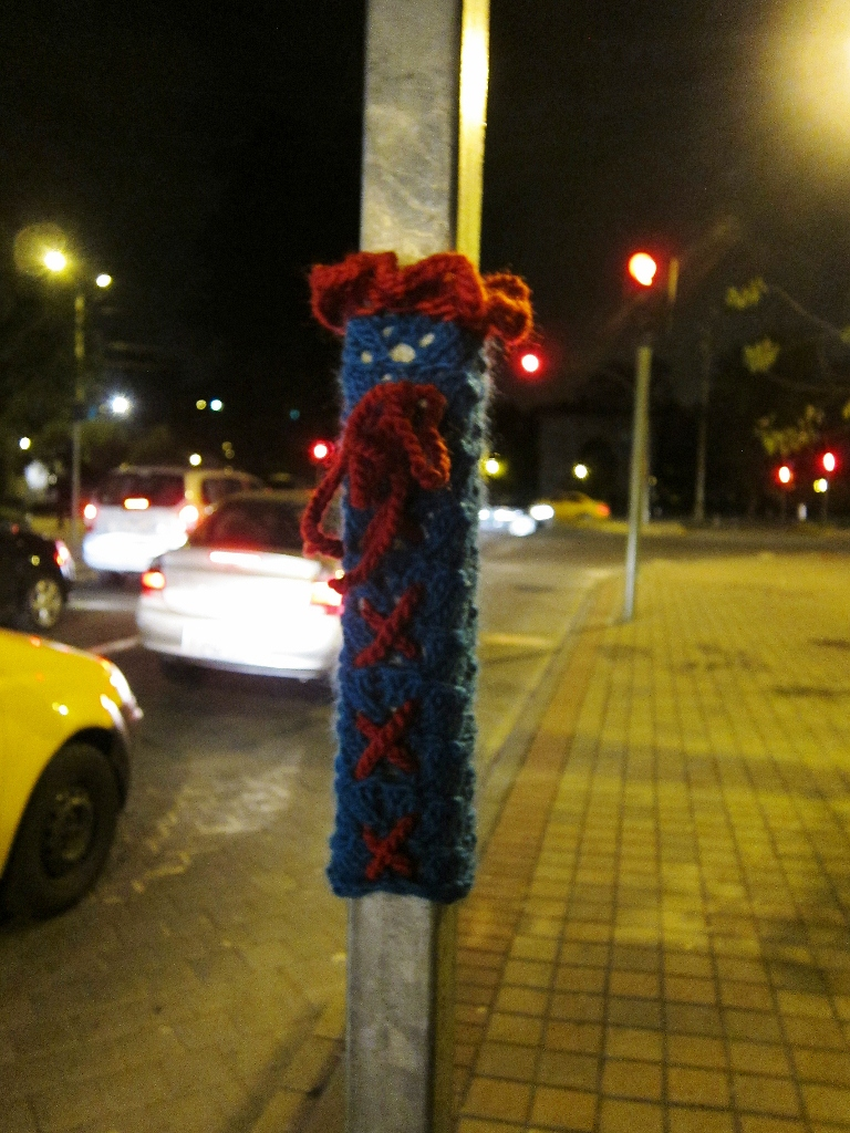 Yarn bomb in Quito, Ecuador - March 2011.