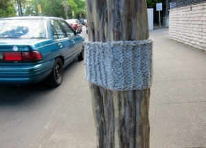 Does anyone know who to credit for this yarn bomb?