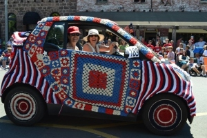 Knitted/Crocheted Smart Car July 4, 2011, Sonoma, CA